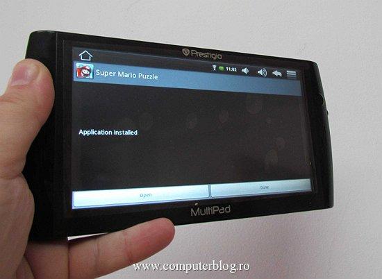 Prestigio MultiPad - aplicatie instalata