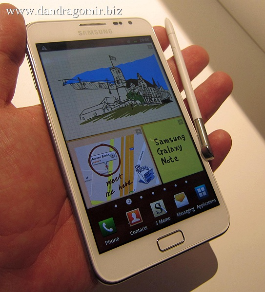 Samsung Galaxy Note hands on