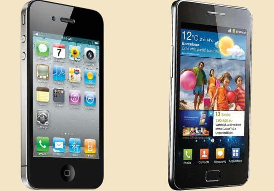 Samsung Galaxy SII versus iPhone