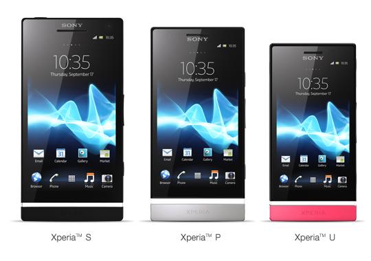 Sony Xperia S, P și U