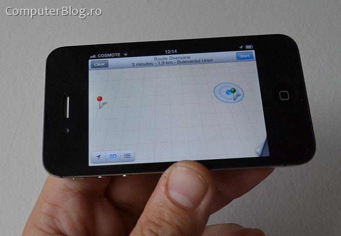 iPhone 4S, iOS 6 - Maps