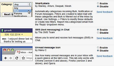 Gmail SMS enable