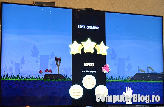 Angry Birds Smart TV - level cleared