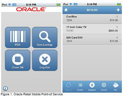 Oracle POS pentru iOS (iPod , iPhone)