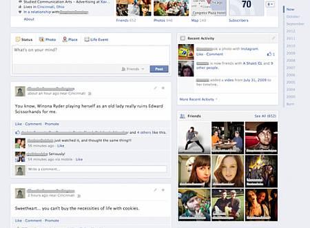 Facebook Timeline single column