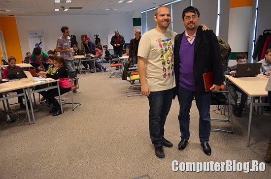 Bobby Voicu & Bill Liao - Coder Dojo Romania