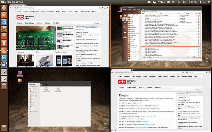 Ubuntu 12 - spatii de lucru