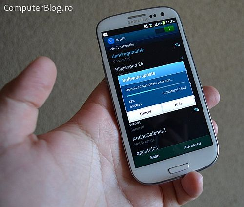 samsung galaxy s3 update android