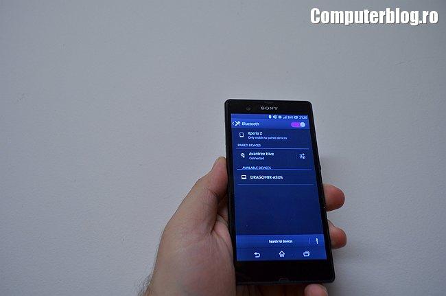 Bluetooth pairing - Xperia Z