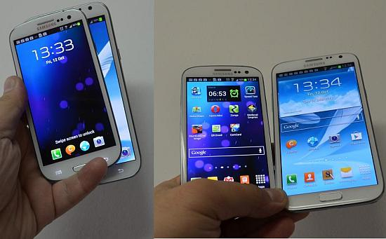 Galaxy Note 2 vs S3