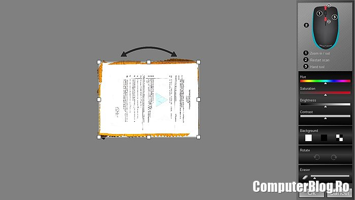 Iriscan editare  document