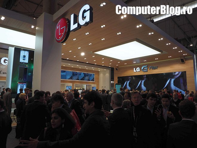 Standul LG la Mobile World Congress 2014