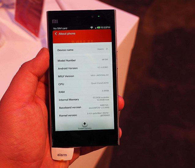 Xiaomi Mi3 detalii tehnice