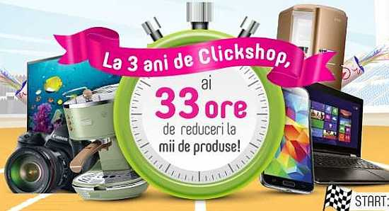 Aniversare: ClickShop marcheaza 3 ani pe piața locală