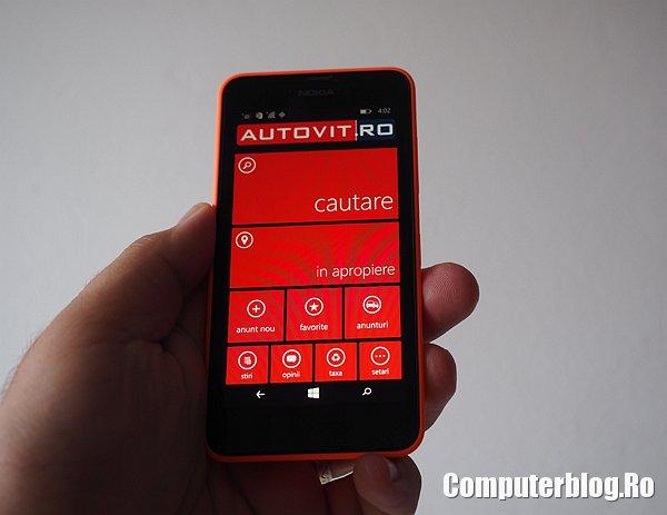 Aplicatia autovit Windows Phone