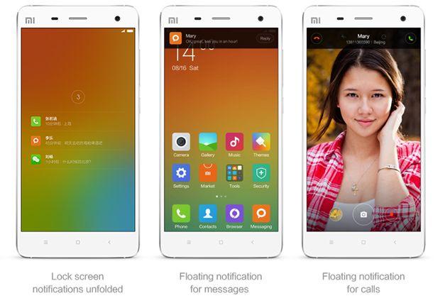 MiUi - interfata realizata de Xiaomi