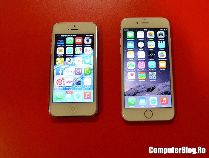 iPhone 5 versus iPhone 6