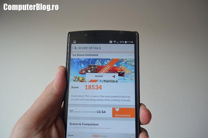 LG G4 - teste de performanta