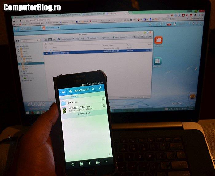 Acces la poze - online și mobil prin Qnap TS-431