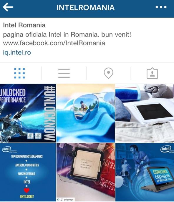 Instagram Intel Romania