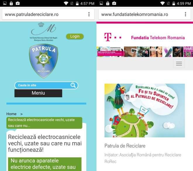 aplicatie mobila patrula de reciclare si telekom