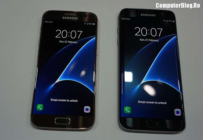 Samsung Galaxy S7 versus S7 Edge edge