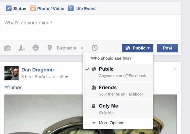 facebook public
