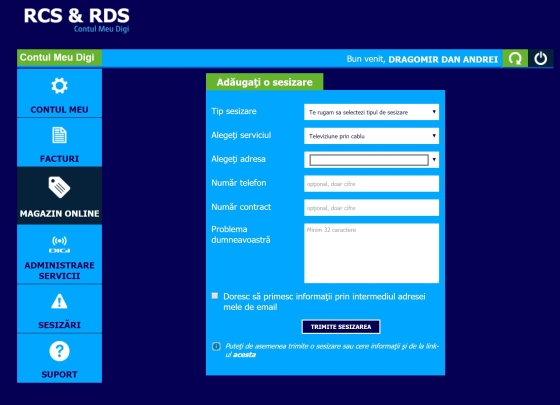 digi rcs&rds contact