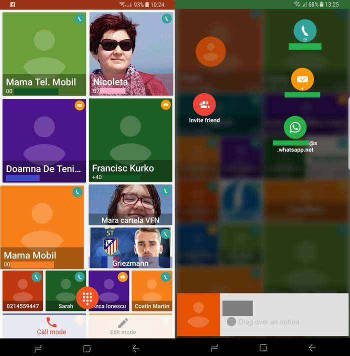 Aplicatia Canvy - manager de contacte pentru Android