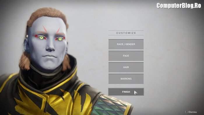 Personajul meu în Destiny 2