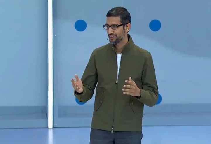 sundar pinchai google ceo at google io 2018