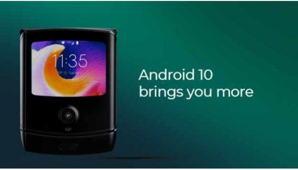 moto razr android 10 update