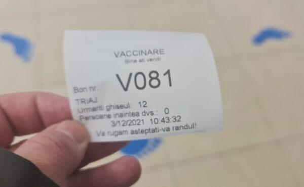 bilet de ordine centru de vaccinare Grand Arena Mall