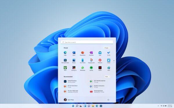 Windows 11 menu