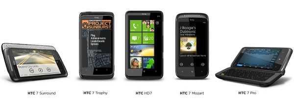 HTC WP7 Family
