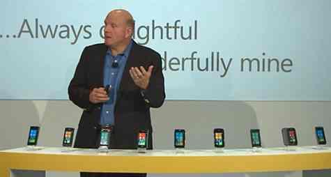 Steve Ballmer anunta telefoanele WP7